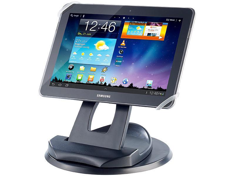 callstel 2in1 tisch st nder f r tablet pcs mit abnehmbarer halterung. Black Bedroom Furniture Sets. Home Design Ideas