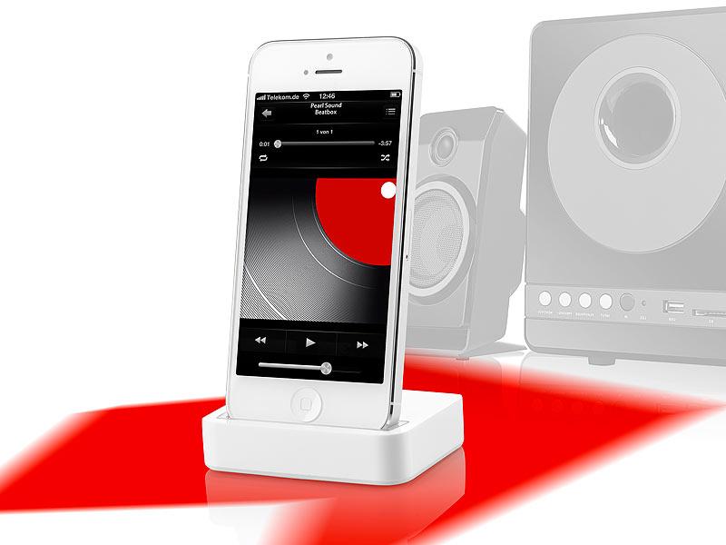 Callstel Dockingstation für iPhone 5, 5s, 5c und iPod touch 5G