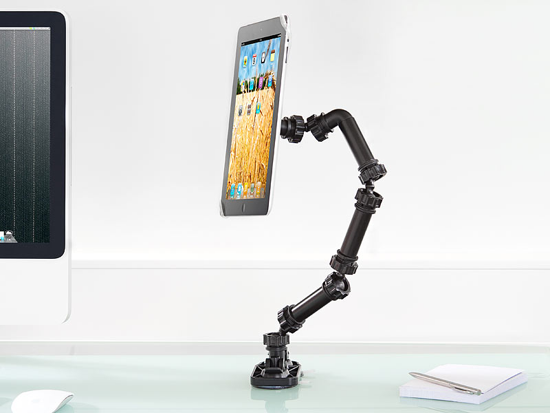 callstel ipad tablet universal saugnapf schwenk. Black Bedroom Furniture Sets. Home Design Ideas