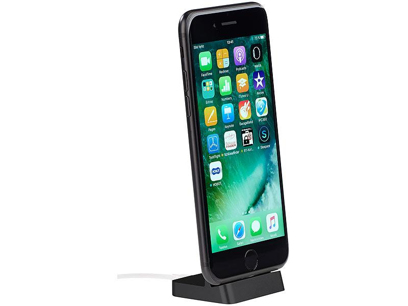 callstel docking ladestation f r iphone ipad mit. Black Bedroom Furniture Sets. Home Design Ideas