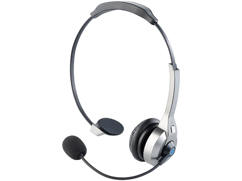Callstel Profi-Mono-Headset Bluetooth mit integriertem NFC-Chip (refurbished)