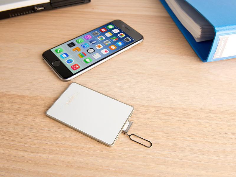 Callstel Dual-SIM-Adapter mit Bluetooth, für iPhone ab 4s, mit