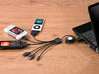 Callstel 6in1 USB-Ladekabel für iPod/iPhone, Handys, MP3-Player & Co.