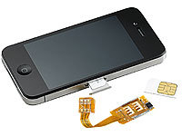 Callstel Dual-SIM-Adapter iPhone 4/4s mit Slot für 2 SIM-Karte (refurbished)