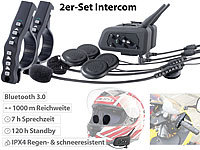 Callstel Motorrad-BT-Intercom-Headset, Fernbedienung, 1 km Reichweite, 2er-Set; In-Ear-Mono-Headsets mit Bluetooth In-Ear-Mono-Headsets mit Bluetooth In-Ear-Mono-Headsets mit Bluetooth In-Ear-Mono-Headsets mit Bluetooth In-Ear-Mono-Headsets mit Bluetooth