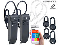 Callstel 2er-Set 2in1-Live-Übersetzer & In-Ear-Mono-Headset, Bluetooth, App