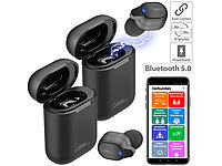 Callstel 2er-Set 2in1-Live-Übersetzer, In-Ear-Mono-Headset, Powerbank-Box & App; In-Ear-Mono-Headsets mit Bluetooth In-Ear-Mono-Headsets mit Bluetooth In-Ear-Mono-Headsets mit Bluetooth In-Ear-Mono-Headsets mit Bluetooth