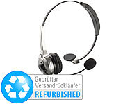 Callstel Profi-Mono-Headset mit Bluetooth & Noise-Cancelling(Versandrückläufer); Sportmützen mit Bluetooth-Headsets (On-Ear), In-Ear-Mono-Headsets mit Bluetooth