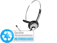Callstel Bluetooth-Headset mit Schwanenhals-Mikrofon (refurbished); Sportmützen mit Bluetooth-Headsets (On-Ear), In-Ear-Mono-Headsets mit Bluetooth